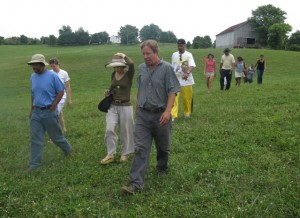 D.C. farm to school networkers touring a local farm