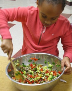 A healthful salad kids lover